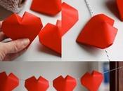 guirnalda hecha corazones origami