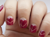 NOTD: Uñas Valentín francesas corazones