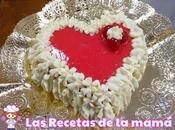 Receta Tarta chocolate blanco para Valentín