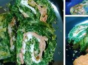 Brazo gitano espinacas salmón queso