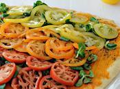 Pizza tomates canónigos