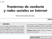 Trastornos conducta redes sociales Internet Néstor Fernández