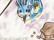 cómo sostener pájaro