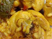 Pollo especiado arroz verduras