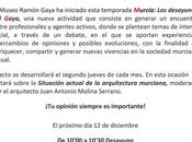 "Ecoproyecta desayunos Museo Ramón Gaya, título ""Situación actual arquitectura murciana"""