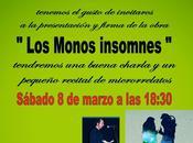 Firma ejemplares `Los monos insomnes´ recital microrrelatos, acompañado Pedro Pujante Diego Sánchez Aguilar, librería cómics Historietas Yakata