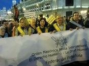 Masonas masones manifestación Marzo Madrid