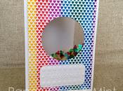 "Tarjeta ""Ventana arco iris"" (Cardmaking)"