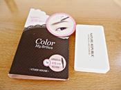 Maquillaje para cejas: Color Brows Etude House (máscara) Botanical cake eyebrow Nature Republic (sombras)