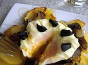 Rovellones huevos poché negro
