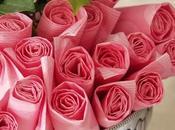 Hacer centro flores servilletas
