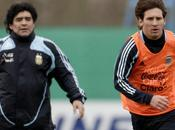 dónde imagina Maradona Messi?