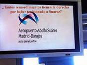 Aeropuerto Adolfo Suarez despilfarro cargo conciencia hipócritas