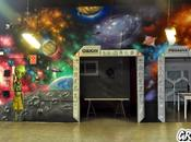 Mural universo Laser quest Mataró