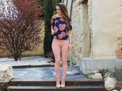 Baby pink pants floral