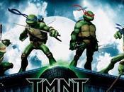 "Cuatro teasers posters ""Las Tortugas Ninja"" armas"