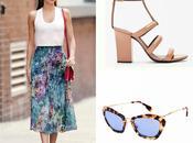 look: floral skirt