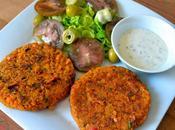 Hamburguesas lentejas rojas verduras