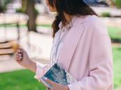 Pink maxi blazer