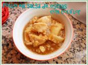 Pollo coliflor salsa ostras