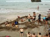 sorprendente playa agua caliente Nueva Zelanda