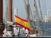 """Buque Escuela """"Juan Sebastián Elcano"""" rinde homenaje Blas Lezo Cartagena Indias"""