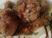 Pollo pimientos manzanas