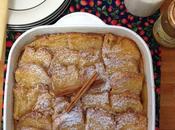 Bread butter pudding mermelada jengibre peras caramelizadas