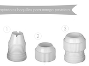 Adaptadores boquillas para mangas pasteleras