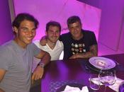Iker Casillas Alejandro Sanz cenan Rafa Nadal