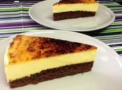 Pastel brownie crema catalana