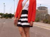 Outfit: Orange blazer