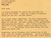 Carta Mick Jagger Andy Warhol