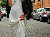 vestido largo blanco biker