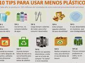 TIPS para usar menos plástico #Infografía #Consejos #Ambiental