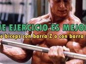 Curl biceps barra plana