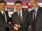 Luis Enrique firmó contrato Barcelona