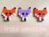 Pyssla: broches Fox.