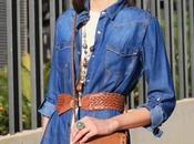 Vestido guipur Camisa vaquera