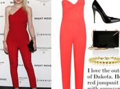 Look. Dakota Fanning red.