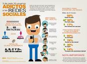 Adictos redes sociales #Infografía #Internet #Entretenimiento