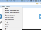 Gestionar marcadores Firefox