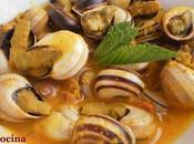 Caracoles malagueña salsa almendras picante