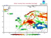 Previsión meteorológica Junio Julio para España 2014 según NOAA
