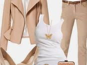 Outfits pantalon beige combinaciones