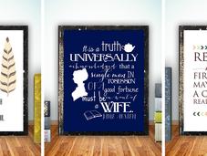 Láminas decorativas inspiradas literatura
