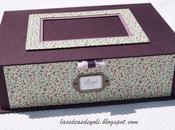 Caja-joyero lila porta fotos cartonnage