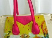 Bolso rosa crema: ciudad estrellada Pink cream bag: Starry city