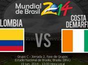 Partido Colombia Costa Marfil Grupo Mundial 2014