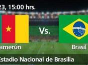 Partido Camerún Brasil Grupo Mundial 2014